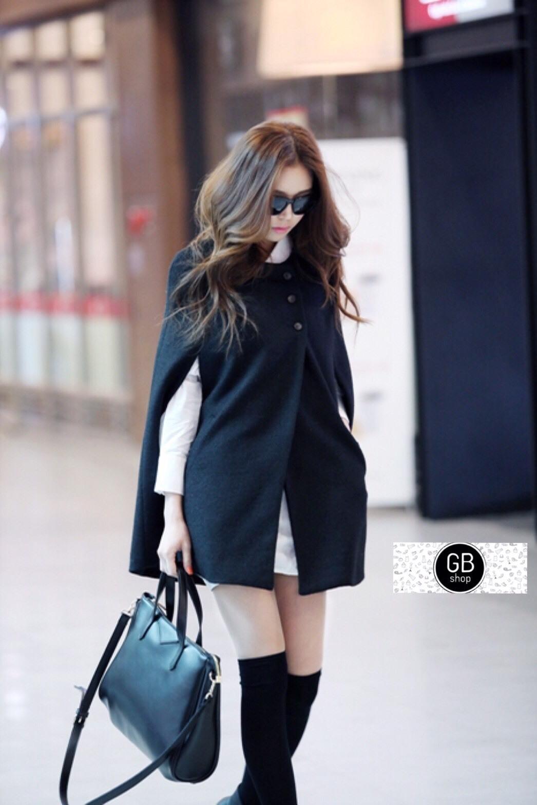 เสื้อผ้าแฟชั่นเกาหลีพร้อมส่งเสื้อคลุมกันหนาว/กันเย็น