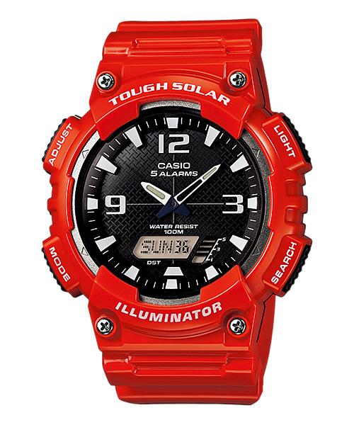 Casio SOLAR POWERED ระบบพลังงานแสงอาทิตย์ ของแท้ ประกันศูนย์ AQ-S810WC-4AV CASIO นาฬิกา ราคาถูก ไม่เกิน สามพัน