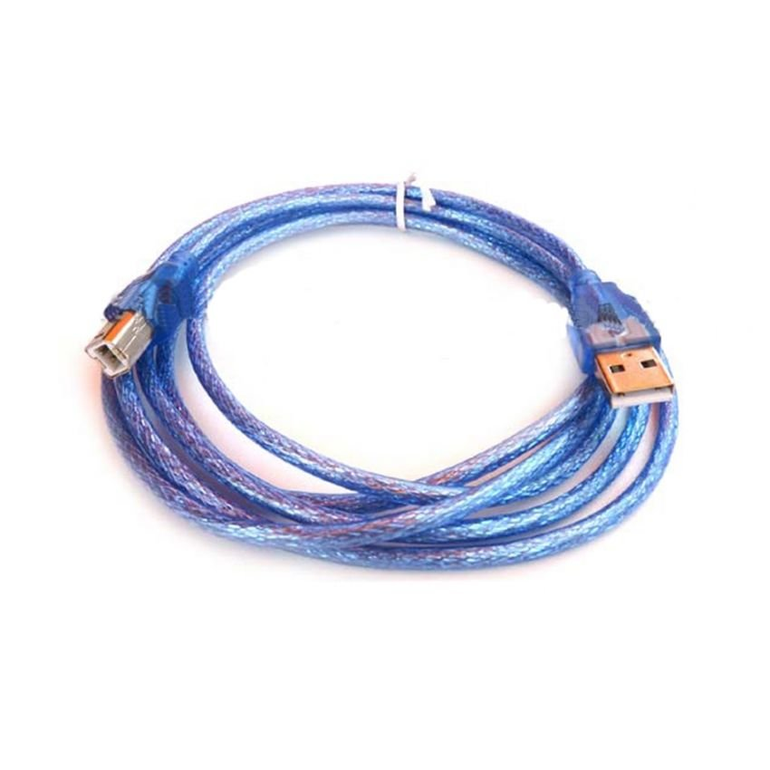 usb printer cable AM BM v2.0 1.8m -blue