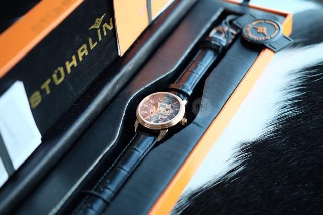 พร้อมส่ง Stuhrling Original Women's Juliet Automatic Skeleton Black Dial Watch