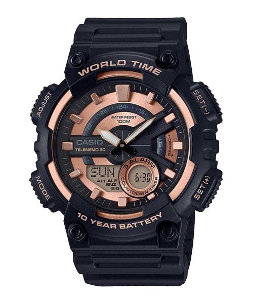 Casio นาฬิกา รุ่น AEQ-110W-1A3VDF CASIO นาฬิกา ราคาถูก ไม่เกิน สองพัน
