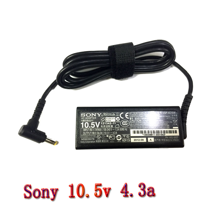 Sony AC adapter ที่ชาร์จ notebook 10.5v4.3a หัวเหลือง ตรง