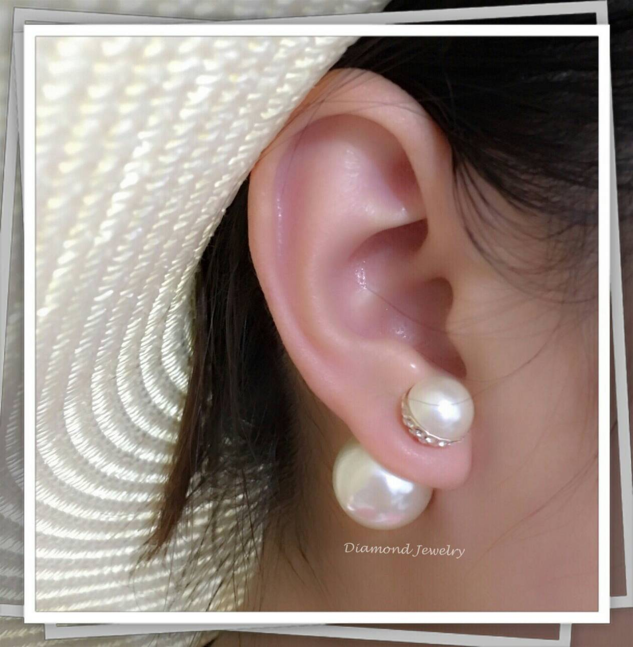 พร้อมส่ง Christian Dior Earring ต่างหูมุด Dior งานอย่างดี