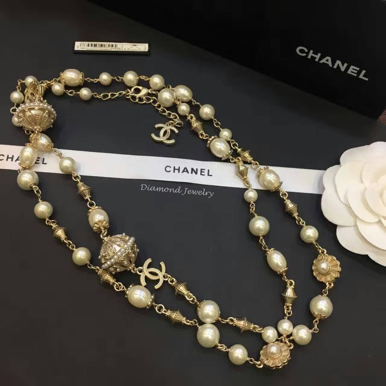 พร้อมส่ง สร้อยคอ Chanel งานประดับมุก ดูหรูหรา มีระดับ