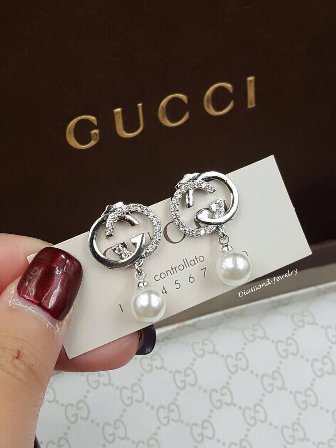 พร้อมส่ง Gucci Earring ต่างหูกุชชี่งานประดับมุกน่ารักที่สุดในสามโลก
