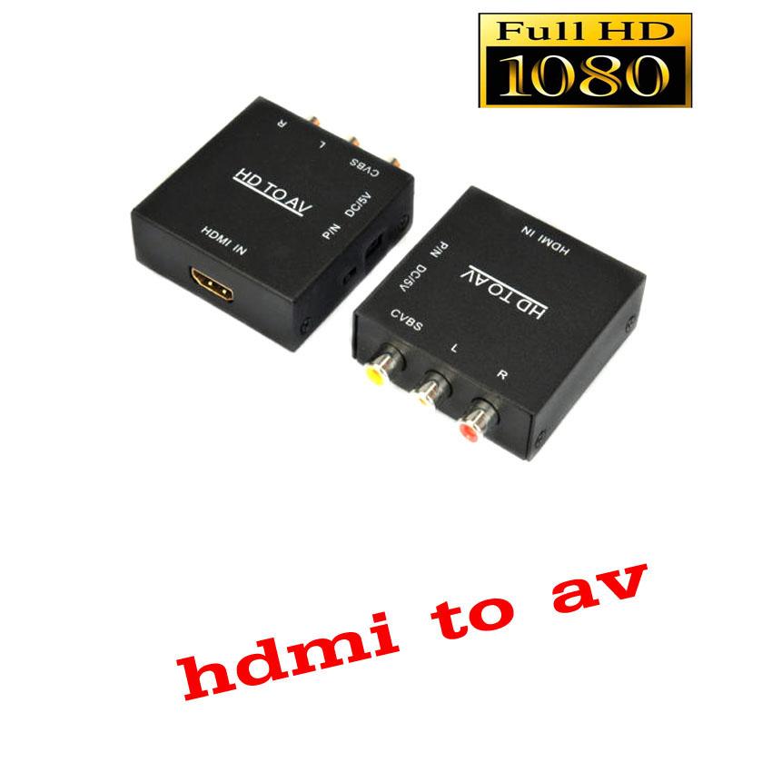 ตัวแปลงสัญญาณ hdmi to av converter box full hd with audio รุ่นใหม่