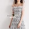 ชุดเดรสเกาหลี พร้อมส่งGirly See-Through Netty Princess Lace Dress