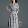 ุชุดเดรสเกาหลี พร้อมส่งชุดเดรสผ้าคอนตอน 100%