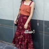 Colorful floral printed chic set