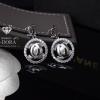 พร้อมส่ง Chanel Earring งานเพชร CZ ฝังระยิบระยับ