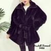 เสื้อผ้าเกาหลีพร้อมส่ง Overcoatแต่งขน ซิปหน้า