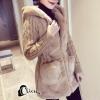 เสื้อผ้าเกาหลีพร้อมส่ง Winter Grey Bunny Cuite Hoody