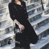 เสื้อผ้าเกาหลี พร้อมส่งParisian Luxury Winter Black Wooly Top + Skirt Set