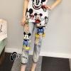 เสื้อผ้าเกาหลี พร้อมส่งEmbroidered Micky M Denim Jeans