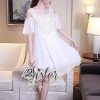 ชุดเดรสเกาหลี พร้อมส่งPink & White Luxury Sexy Dress