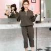 เสื้อผ้าเกาหลีพร้อมส่ง Set แจ๊กเก็ต+กางเกงปลายขาจั้ม