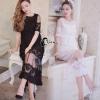 ชุดเดรสเกาหลี พร้อมส่ง Serena Simplicity Lace Dress