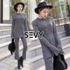 เสื้อผ้าเกาหลี พร้อมส่ง Casual Grey Knit Japanese Style Sets