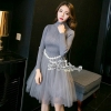 ชุดเดรสเกาหลีพร้อมส่ง Pearl Waist Dress