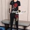 เสื้อผ้าเกาหลี พร้อมส่งRedy Rose Squin Stick Chic Set