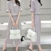 เสื้อผ้าเกาหลี พร้อมส่งLife Style Grey Top + Pant Set