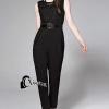 เสื้อผ้าเกาหลีพร้อมส่ง Ciara Black Jumsuite
