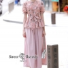 Floral Broderie Pink With Wide Pants Set