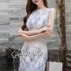 ชุดเดรสเกาหลีพร้อมส่ง Sweet Lace Bule Suquin Dress