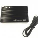 "oker กล่องใส่ HDDเล็กของ notebook 2.5"" USB 2.0 เป็นแบบSATA-black"