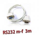 สายserial RS232 comport DB9 Male Female 3m -white