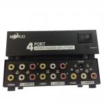 AV RCA splitter เข้า1ออก4tv -BLACK