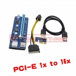 PCI-E Express 1x to 16x USB 3.0 Powered Extender Riser Adapter Graphics Cardเพิ่มกร์าดจอ