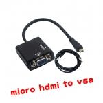 micro HDMI To VGAสายแปลงสัญญาณจาก มีเสียงด้วย