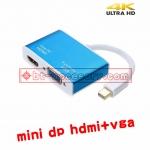 mini displayport v1.2 to hdmi vga 2in1 4kx2k for macbook