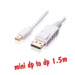 สายแปลงmini display port to display port 1.5m-white