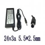 adapter ac dc ที่ชาร์จ 24v 3a หัวใหญ่ 5.5x2.5mm