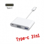 usb Type c 3.1 to vga usb 3.0 charging 3 in 1 converter cable