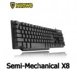 NUBWO keyboard gaming Semi-Mechanical ALPHA-X8 ไฟ 3 สี