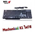 MDtech Keyboard Gaming Machanical K1 ไฟ7สี