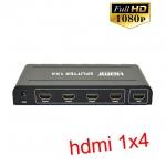 HDMI splitter เข้า1ออก4 FULL HD เวอร์ชั่น1.4 งานดี
