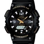 Casio SOLAR POWERED ระบบพลังงานแสงอาทิตย์ ของแท้ ประกันศูนย์ AQ-S810W-1BV CASIO นาฬิกา ราคาถูก ไม่เกิน สามพัน