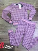 เสื้อผ้าเกาหลีพร้อมส่ง Set เสื้อ+กางเกงพิมพ์ลายคมชัด