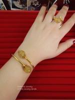 กำไลไหมทอง+แหวนไหมทองงาช้าง