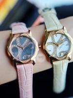 พร้อมส่ง Stuhrling Original Women's Vogue Audrey Isis Swiss Quartz Swarovski Crystal Date Pink Watch