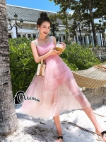 Pastel Luxury Pinky Summer Dress