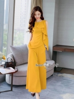 Maria Yellow With Wide Pants Set