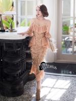 Sonia Luxury Golden Peach Summer Beach Dress