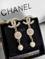 Chanel Earring ต่างหูชาแนลประดับมุก
