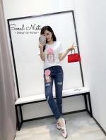 ชุดเซทเสื้อ+กางเกงยีนส์ Chanel