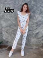 เสื้อผ้าเกาหลีพร้อมส่ง Jumpsuit สวยลงตัวในชุดเดียว